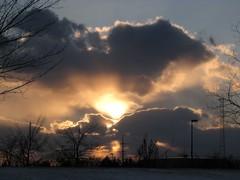 Sunset 1 (Leya :P) Tags: blue trees sunset sun yellow skyline night clouds dark landscape evening