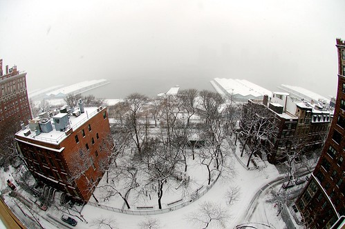 Snow in Brooklyn Heights