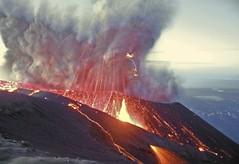 Semeru erupting at dawn (hshdude) Tags: night indonesia volcano lava java glowing volcanoes bombs eruption semeru mahameru