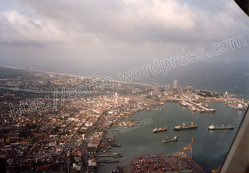 Colombo harbour and the fort area - taken from the north east facing