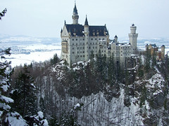 Neuschwanstein Castle - Schwangau, Germany (tossmeanote) Tags: bridge schnee trees mountain snow mountains cold castle beautiful pine fairytale germany deutschland bavaria europa europe landmark photographic spire neuschwanstein schloss 2008 magnificent markstein schwangau marienbrucke tossmeanote