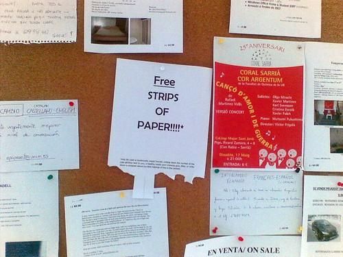 Tiras de papel gratis!!!