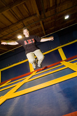 Getting Sky High (Josh Thompson) Tags: motion blur d50 jumping sb600 1855mmf3556g lightroom trampolining evonne sc28 skyhighsports invw