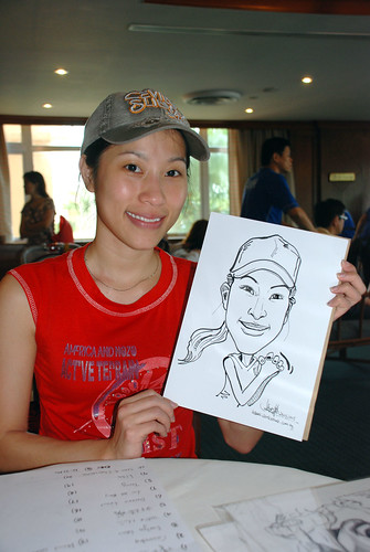 Caricature live sketching Temasek Fun Day 3