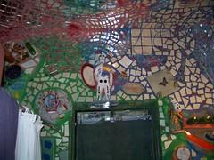 Inside Bathroom (lucindalunacy) Tags: philadelphia mosaic southstreet isaiahzagar trashbit