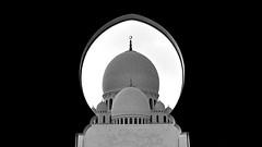 The Dome (Sanjiban2011) Tags: abudhabi uae blackandwhite blackwhite dome mosque grandmosque sheikhzayeedgrandmosque contrast architecture islamic islamicarchitecture outdoor fullframe nikon d750 tamron tamron1530