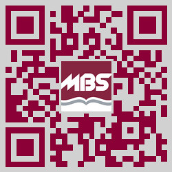 MBS Foreword Online - MBS-branded QR Code linking to @mbstextbook on Twitter