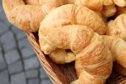 neuchatel market: croissants