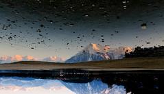 Parallel-Universe (Peter Hauri) Tags: sunset mountain lake reflection wet water reflections landscape effects switzerland europe natural upsidedown effect mtniesen cityofthun
