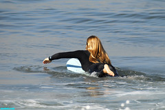 SB184 (mcshots) Tags: ocean california autumn sea woman usa beach nature water girl lady coast losangeles surf waves surfer images surfing socal blonde mcshots swells wahine