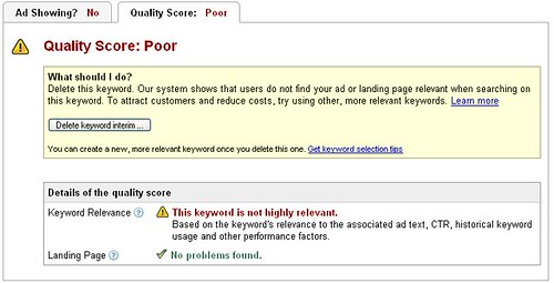 AdWords Poor Quality Score