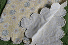 Scalloped Baby Blanket: Take One