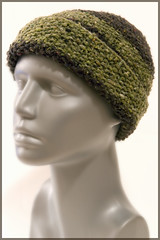Beanie with seed stitch, Rowan Silk