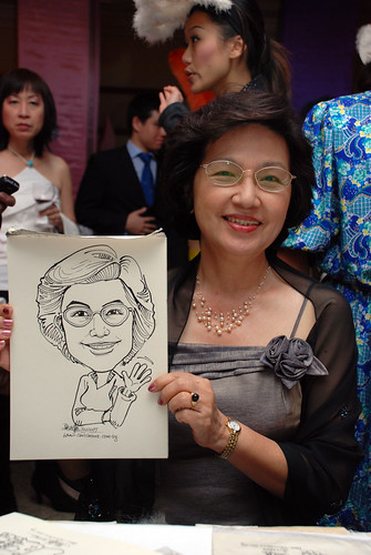Caricature Singapore Swimming Club NYE 8