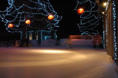 Upper Canada Village - the skating rink