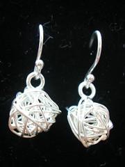 'Yarn ball' earrings