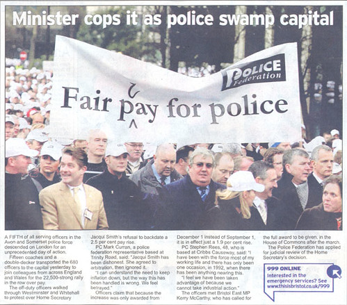 Police march BNP - Evening Post
