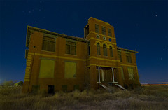 19 High School 12 (Noel Kerns) Tags: school abandoned night town high texas ghost schoolhouse toyah
