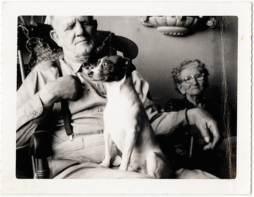 My Grandparents and Buddy c. 1950