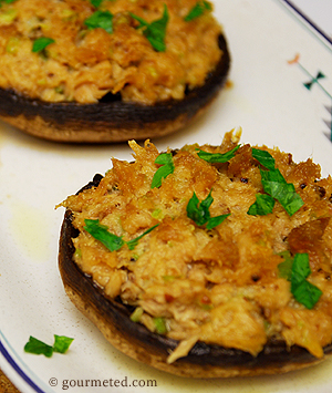 Tuna Stuffed Portobello Mushrooms