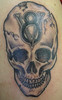 V8 Skull Tattoo