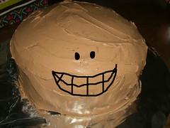 Chocolate cake makes me happy
