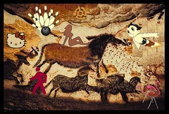 New Discoveries at Lascaux (Mike Licht, NotionsCapital.com) Tags: satire humor lascaux anachronism cavemen caveart prehistoricart arthumor mikelicht notionscapitalcom