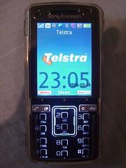 Standby Screen - TelstraBlue theme - Sony Ericsson K850i