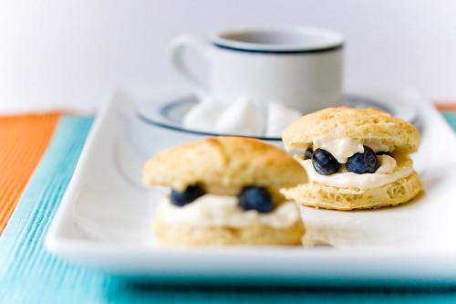 Lemon Maple Scones with Vegan Clotted Cream