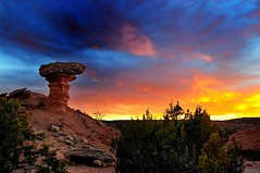 Camel Rock at Sunset (Kevin Eddy) Tags: sunset newmexico santafe clouds goldenhour d300 sb800 camelrock 5photosaday top20nm