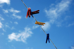 Somewhere along the line... (ianmurray) Tags: sky clouds line clothes pegs washing dsc0968
