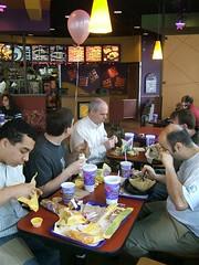 eating at Taco Bell