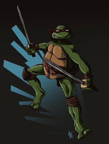 Ninja turtle michelangelo drawing - photo#16