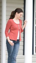 Printed Silk Cardigan (LollyKnit) Tags: birthday sarah knit handknit cardigan interweaveknits motherofpearl printedsilkcardigan frogtreepimasilk