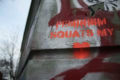 feminist squats my heart graffiti