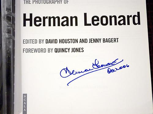 Herman Leonard Signature