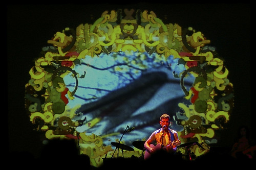 Visuals for Sufjan Stevens show at the Tivoli Theatre