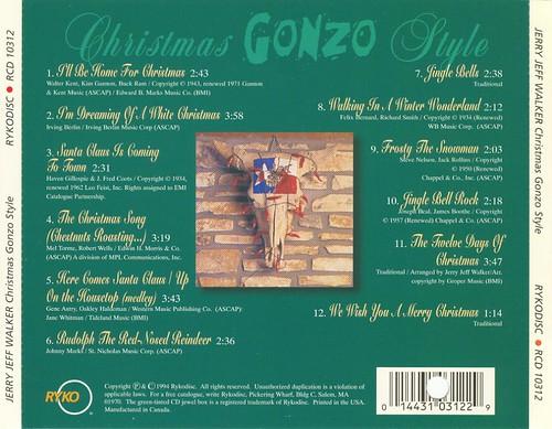Jerry Jeff Walker - Christmas Gonzo Style (1994) [rear]