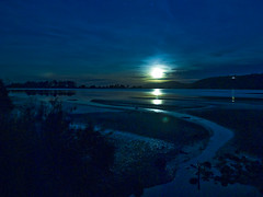 Not a sunrise, not a sunset (Ian@NZFlickr) Tags: moon bay nz otago aotearoa blueskin firstquality