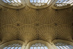 Bath Abbey (Alexander Jones - Documentary Photography) Tags: documentary photography bath abbey ceiling church saint peter paul stained glass north east somerset south west england nikon d5200