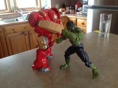 Blamo!! (Total BrickMaster) Tags: marvel legends hulkbuster iron man hulk age of ultron