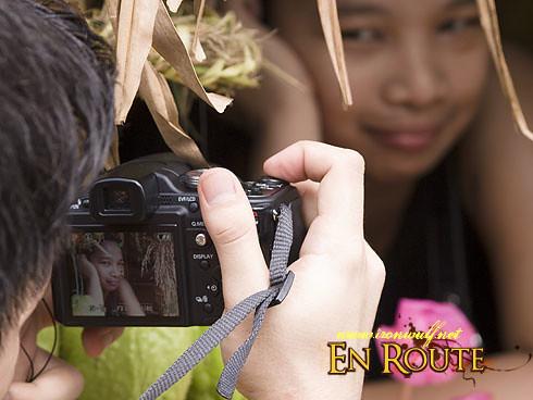 A photographer shooting portraits