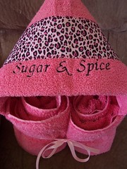 Sugar & Spice Hooded Towel (spiritofgiving) Tags: towels custom personalized hooded
