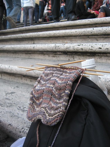 Sock at the Spanish Steps