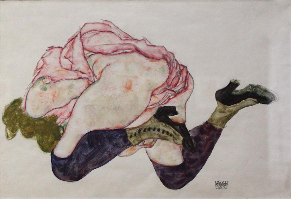 Egon Schiele, Kniende mit hinuntergebeugtem Kopf [Kneeling Woman with Bent Head], 1915