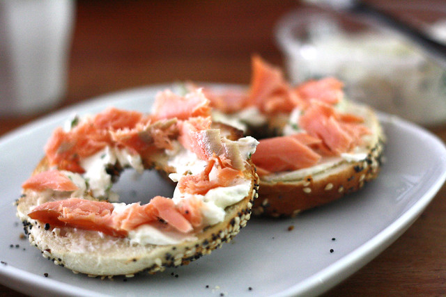 Eltana bagels with Cape Cleare smoked salmon