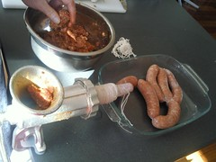 Filling the Chorizo