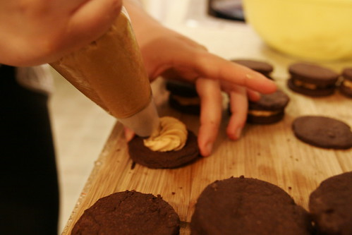 Chocolate Peanut Butter Sandwich Cookies 010