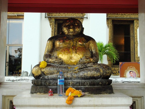 Buddha with bottled water