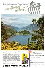 Union Pacific (twm1340) Tags: railroad up train vintage ad rail 1954 unionpacific passenger nationalgeographic